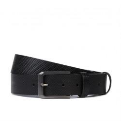 Men belt 15bp black perforat