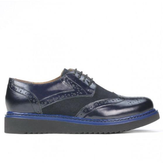 Pantofi casual dama 663-1 lac indigo combinat