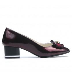 Pantofi eleganti dama 1270 lac bordo