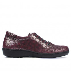 Pantofi casual dama 698 bordo sidef