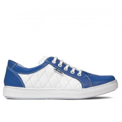 Women sport shoes 648 indigo+white