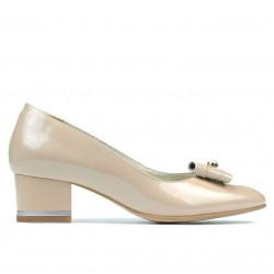 Women stylish, elegant shoes 1270 patent ivory