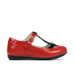 Small children shoes 63c patent red combined