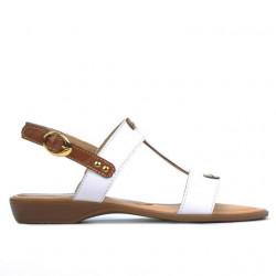 Sandale dama 5048 alb combinat