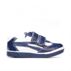 Small children shoes 16-2c indigo+white