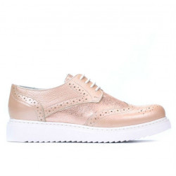 Pantofi casual dama 663-2 pudra sidef combinat