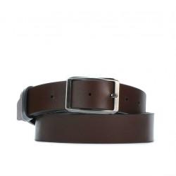 Men belt 09b bicolored black+brown