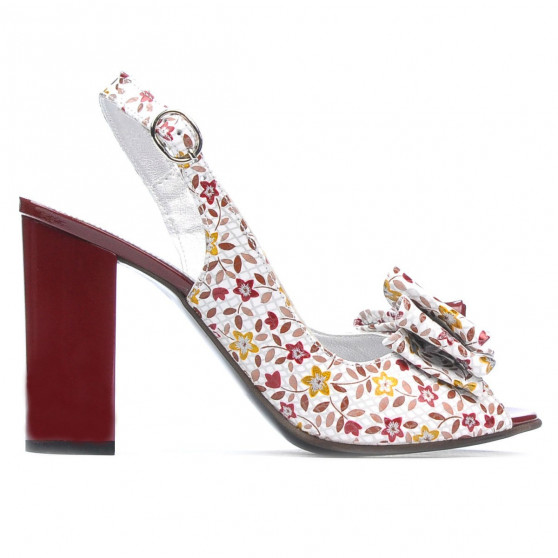 Sandale dama 1256 bordo floral multicolor