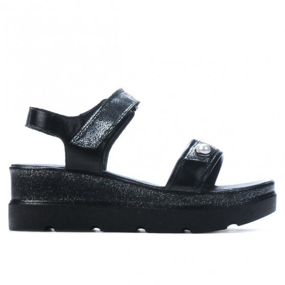 Sandale dama 5051 negru combinat