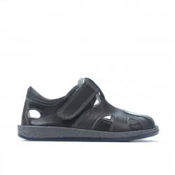 Pantofi copii mici 07-1c indigo+gri