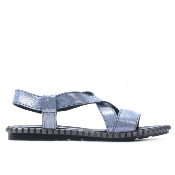 c46dcaa112b Women sandals 5050 bleu argento. Affordable prices. Natural leather.