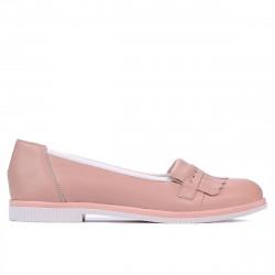 Pantofi casual dama 699 pudra combinat