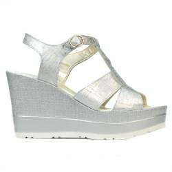 Women sandals 5054 silver pearl