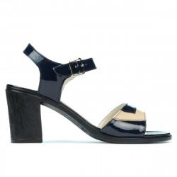 Sandale dama 5042 lac indigo+bej
