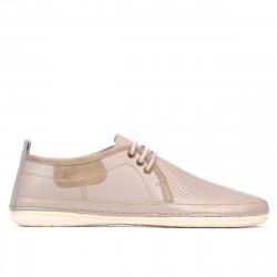 Men loafers, moccasins 865-1 beige+sand