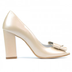 Women sandals 1271 beige pearl