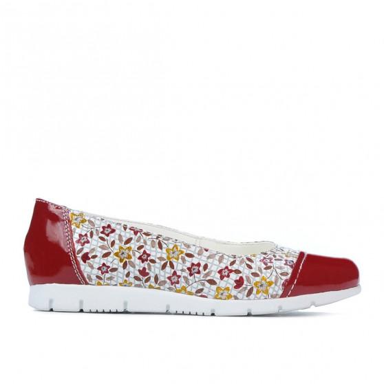 Pantofi copii 171 lac rosu combinat