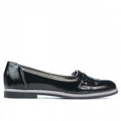 Pantofi casual dama 699 lac negru combinat