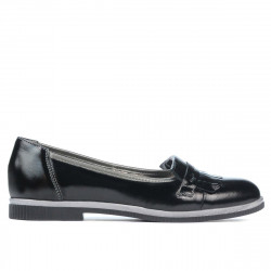 Women casual shoes 699 patent black combined