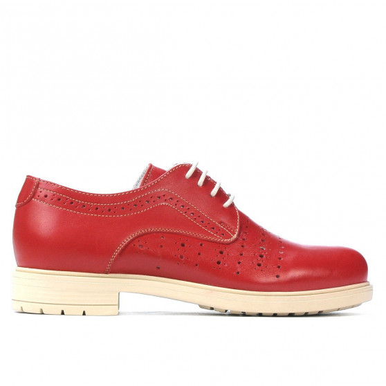 Pantofi casual dama 6001 rosu
