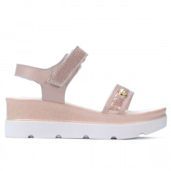 Women sandals 5051 pudra pearl combined