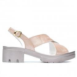 Women sandals 5052 pudra pearl