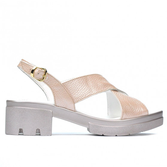 Sandale dama 5052 pudra sidef