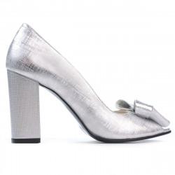 Sandale dama 1271 argintiu satinat