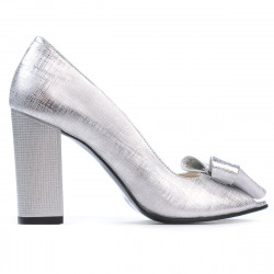 Women sandals 1271 silver satinat