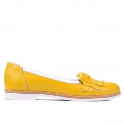 Pantofi casual dama 699 galben combinat