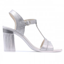 Women sandals 5055 silver pearl