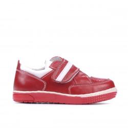 Pantofi copii mici 64c rosu+alb