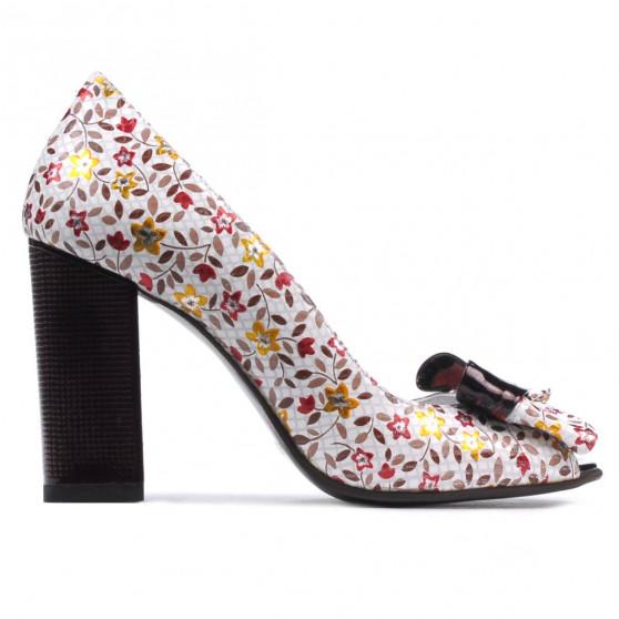 Sandale dama 1271 grena floral multicolor