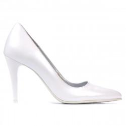 Pantofi eleganti dama 1246 alb sidef