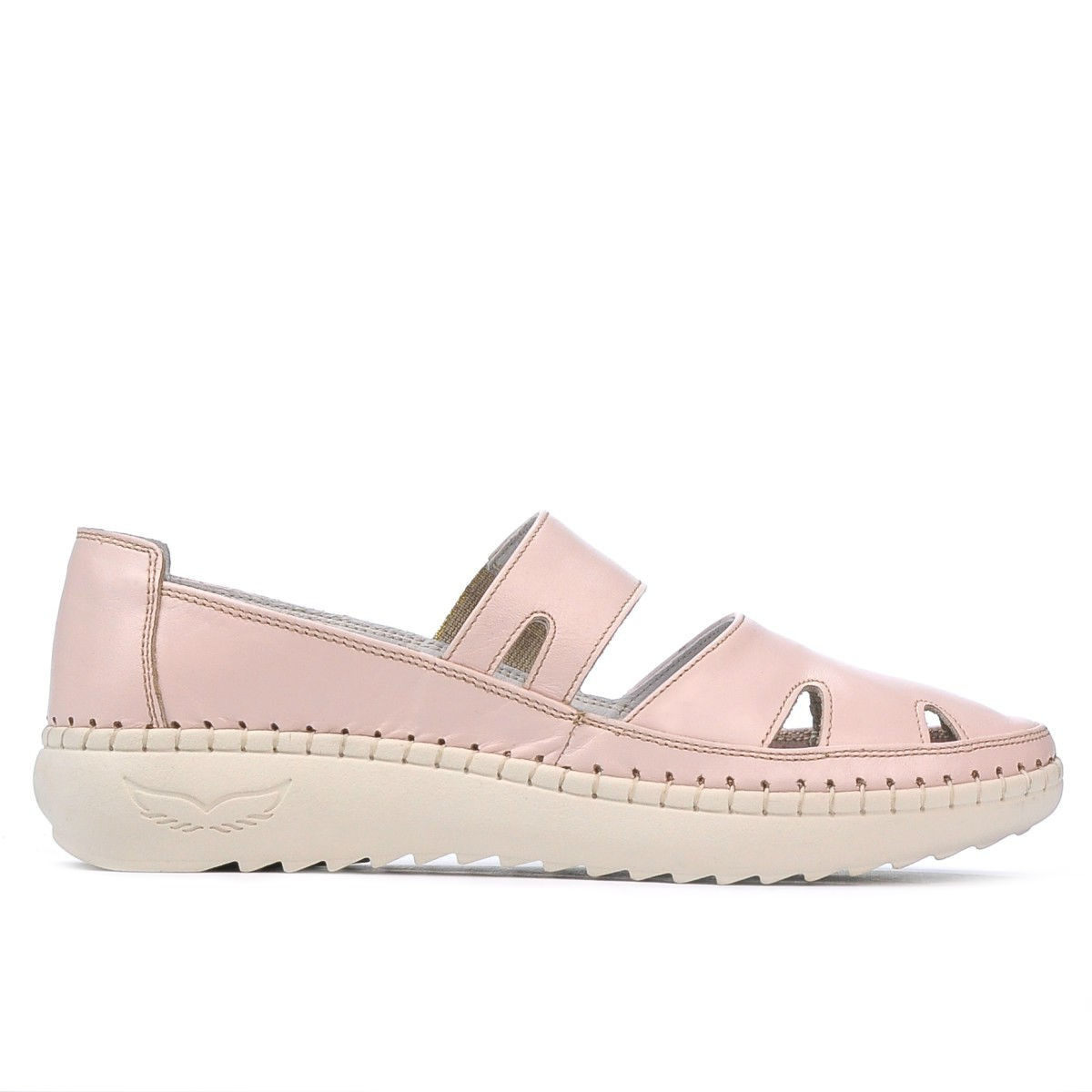Women loafers, moccasins 6002 pudra