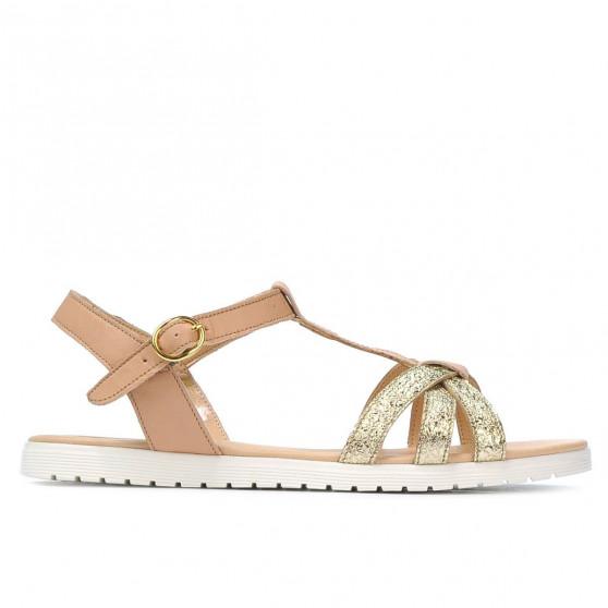 Sandale dama 5038 auriu combinat