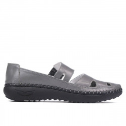 Women loafers, moccasins 6002 gray