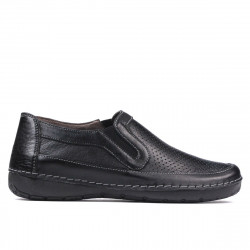 Women loafers, moccasins 6000 black