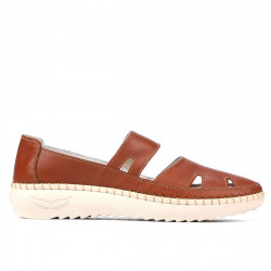 Women loafers, moccasins 6002 brown