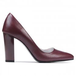Women stylish, elegant shoes 1261 bordo pearl