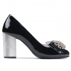 Women stylish, elegant shoes 1272 patent black