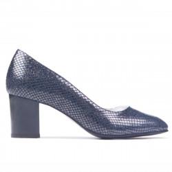 Pantofi eleganti dama 1268 piton indigo