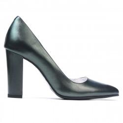 Women stylish, elegant shoes 1261 green pearl