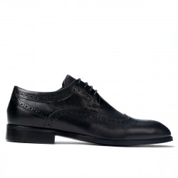 Men stylish, elegant shoes 892 black