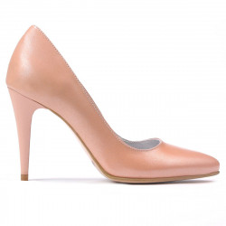 Women stylish, elegant shoes 1246 pudra pearl