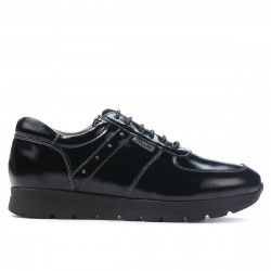 Women sport shoes 6003 patent black