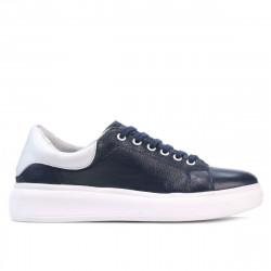 Pantofi sport dama 6008 indigo+alb