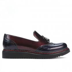 Pantofi casual dama 659 lac indigo+bordo