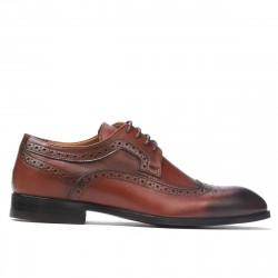 Pantofi eleganti barbati 892m a coniac (marimi mari)