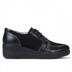 Pantofi casual dama 6006 negru combinat